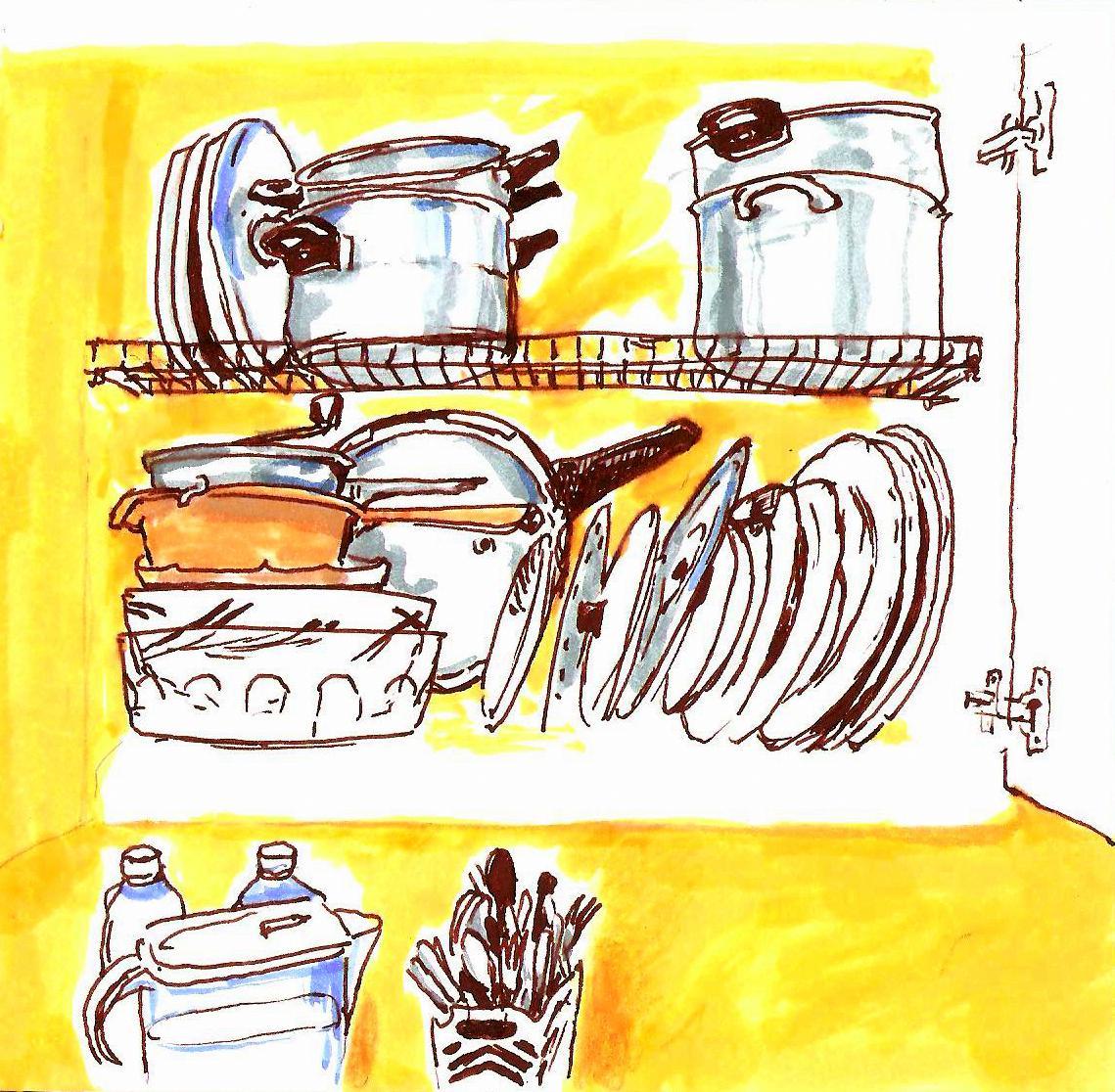 A bocetadas mundo cocina for Cocina dibujo