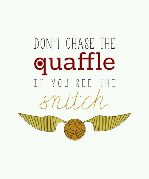 Small Town Small Talk Dont Chase The Quaffle When You