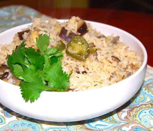 Eggplant Pulao
