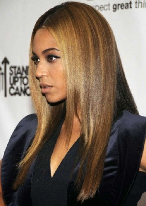 Beyonce African American Poker Straight And Smooth Hairstyle, Haircut Images