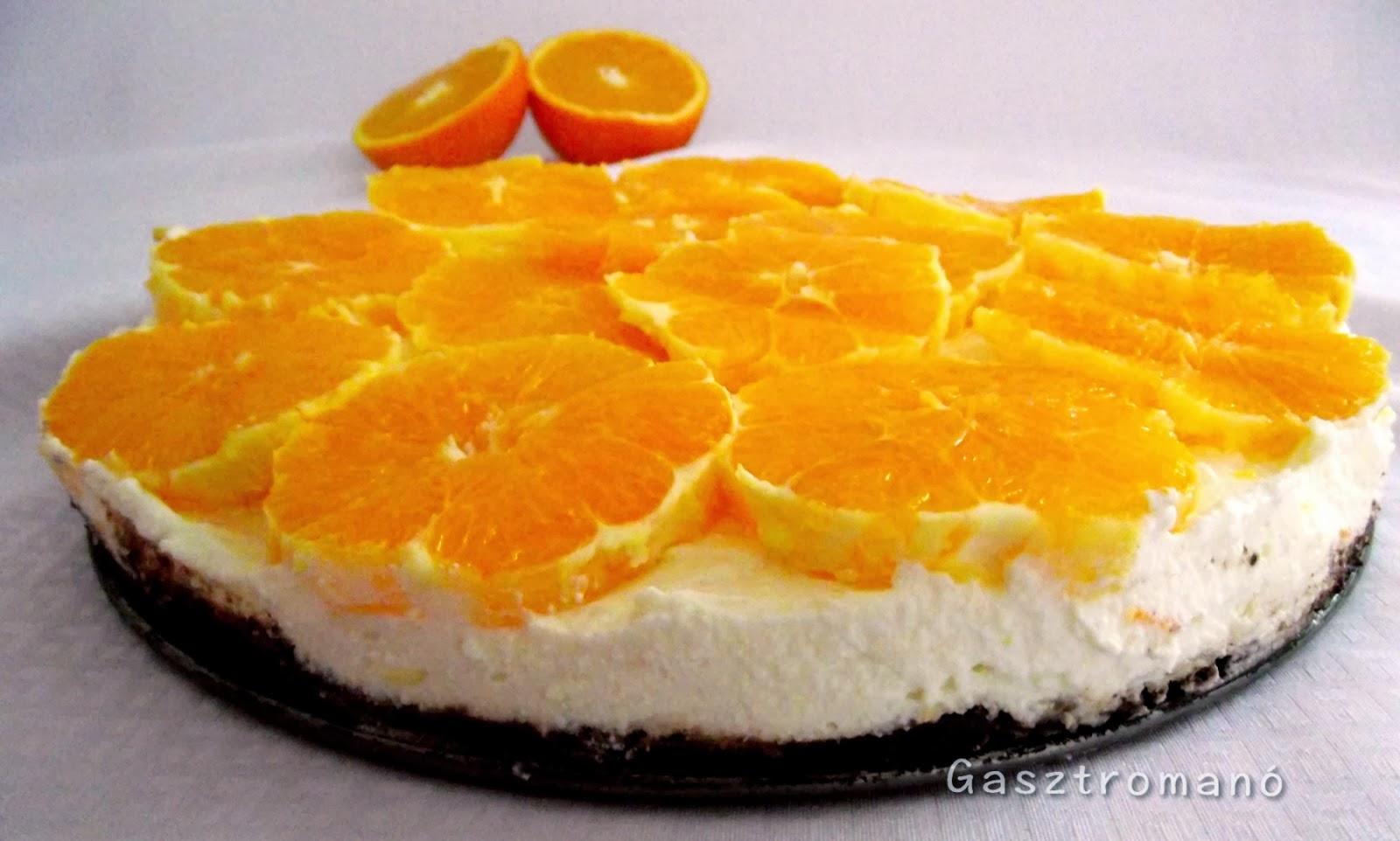 narancsos csokis turotorta