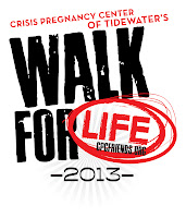 Crisis Pregnancy Center of Tidewater's Walk for Life 2013