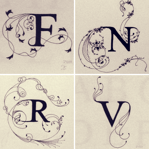1000 Images About Fancy Letters On Pinterest