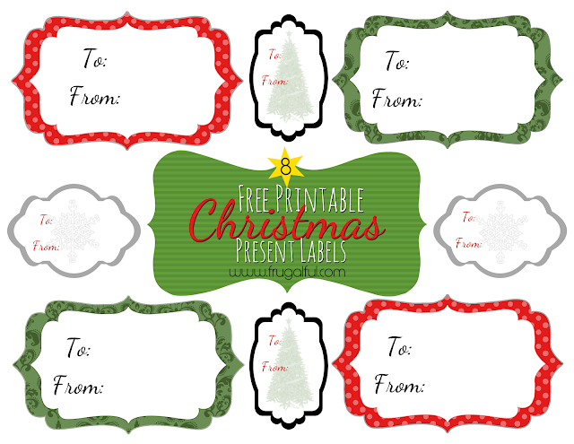 8 Free Vintage Printable Christmas Present Labels