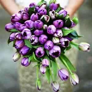 purple tulip bouquet