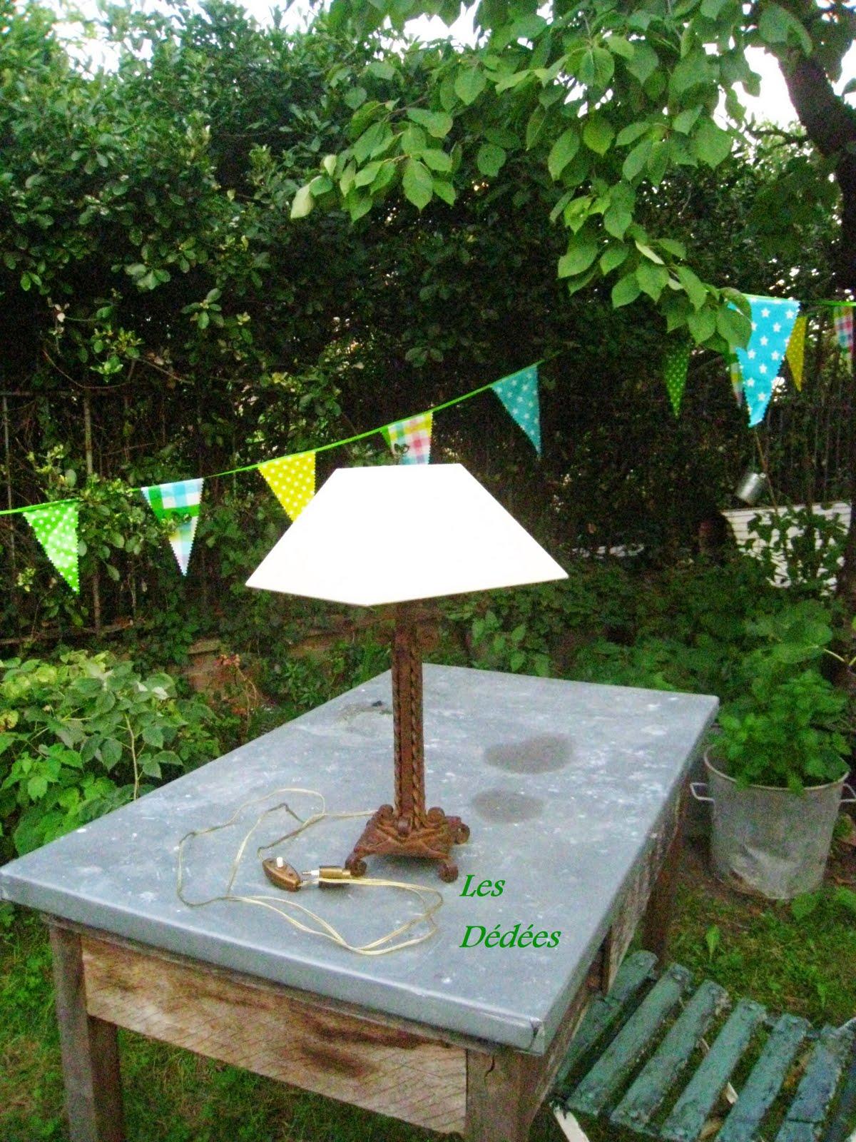 "Les dedees vintage recup creations LAMPE FER FORGE ""RECUP"