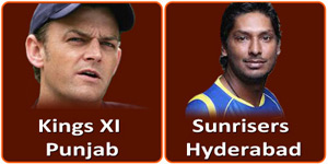 SRH Vs KXIP on 19 April 2013.