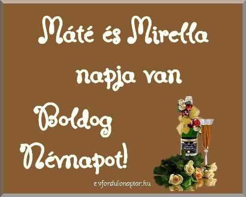 Szeptember 21 - Máté, Mirella névnap