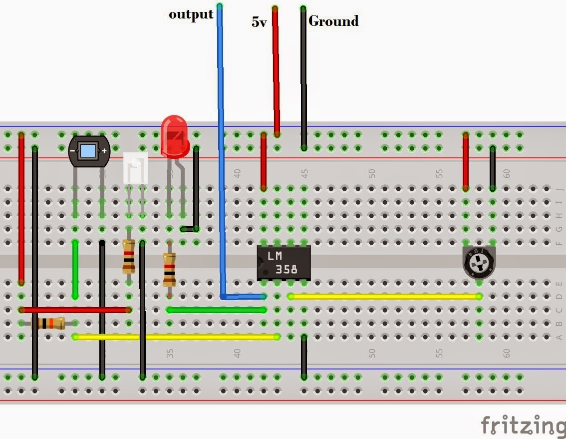 Circuit Diagram Using Breadboard Wiring Library 555 Bistable Basic Toggle Built On A Simple Line Following Robot Without Microcontroller Make Robots In Less Than 15 Minutes