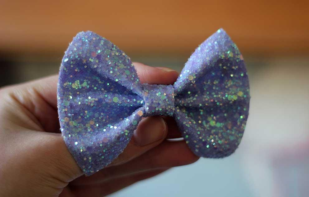 lilac glittery bow zoella