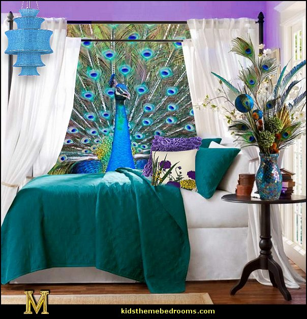 Welcome home peacock bedroom and bathroom on pinterest for Home decorations peacock