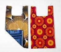 Naylon Plastik Poşet gibi tasarlanmış kumaş alışveriş çantası