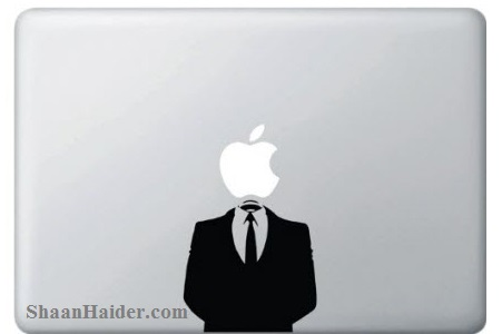 Anonymous Geeky MacBook Stickers and Decals