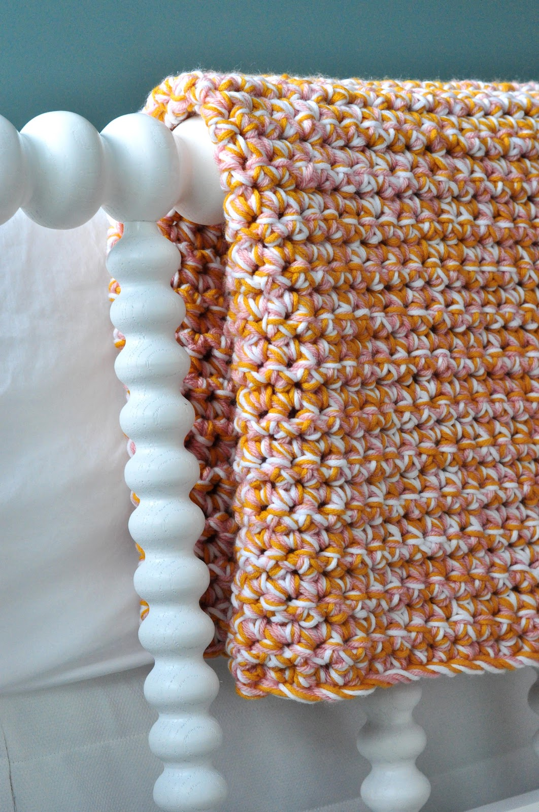 Easy Crochet Afghan : Aesthetic Nest: HOH in Crochet: Easy Baby Afghan (Tutorial)