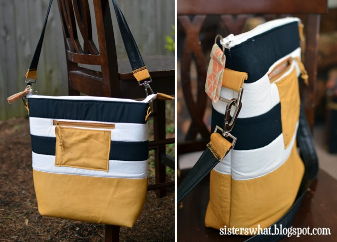 Striped Leather Bag Tutorial | Sisters, Sisters