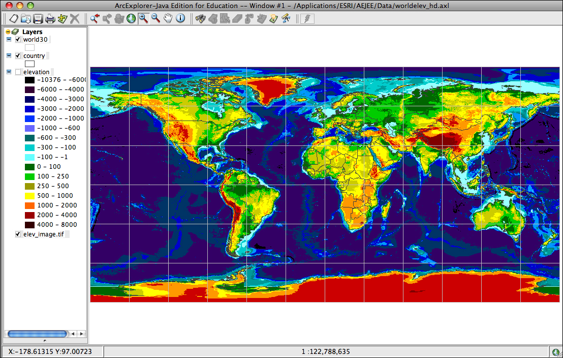 World Elevation Map  My blog