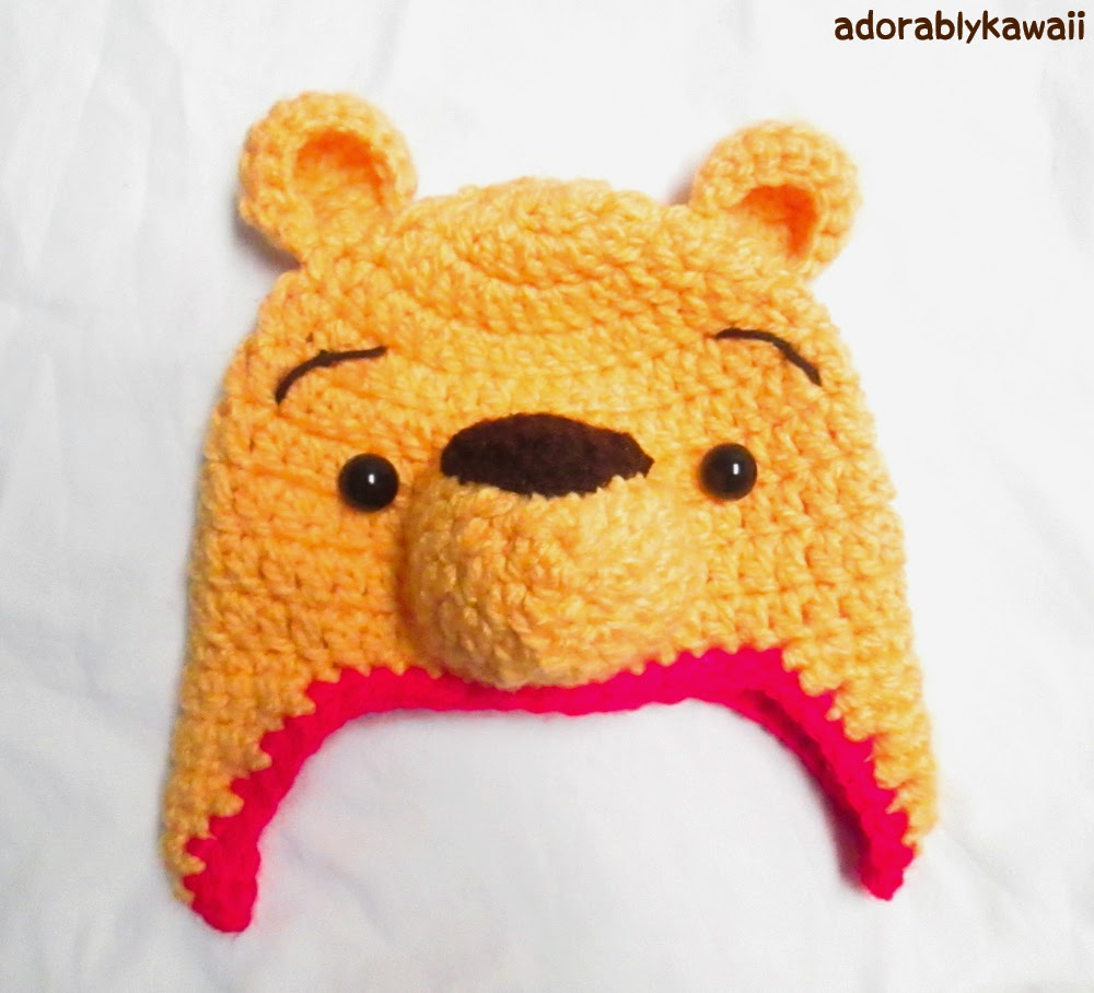 Winnie The Pooh Crochet Hat Pattern For Toddler Sizing Guide