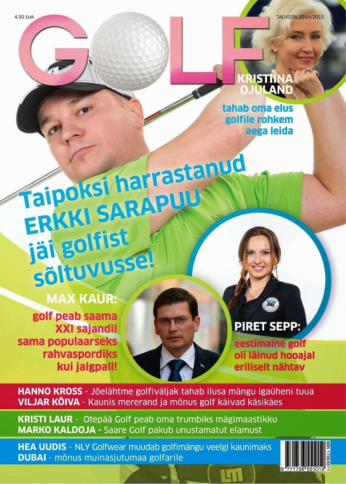 Max Kaur ajakirjas GOLF
