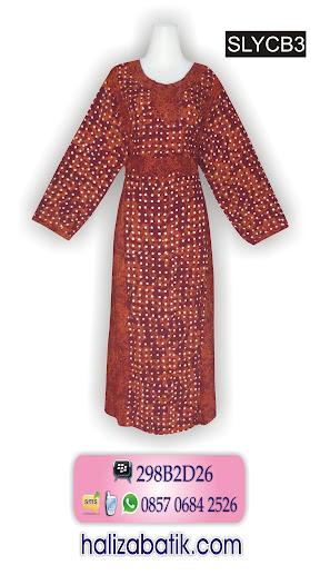 085706842526 INDOSAT, Model Baju Batik Perempuan, Model Batik Terkini, SLYCB3, http://grosirbatik-pekalongan.com/longdress-slycb3/