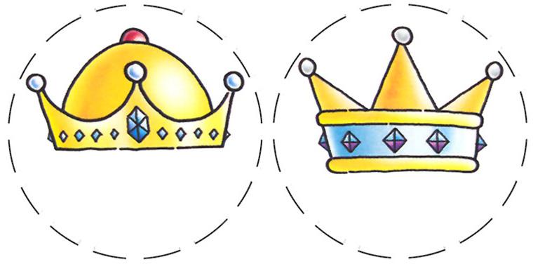 Un Car  Con Su Nombre Con Coronas De Pr  Ncipes Y Princesas