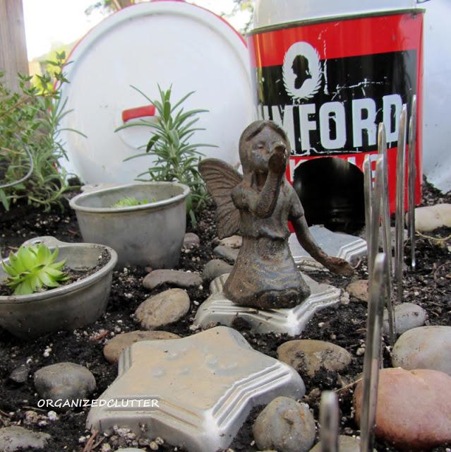 Kitchen Utensil Fairy Garden www.organizedclutter.net