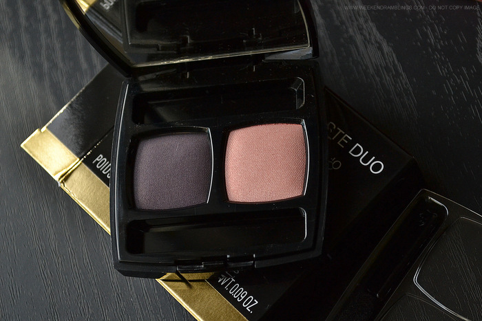 Chanel Eyeshadow Duo Rose Majeur Spring 2014 Notes de Printemps Makeup Collection Photos