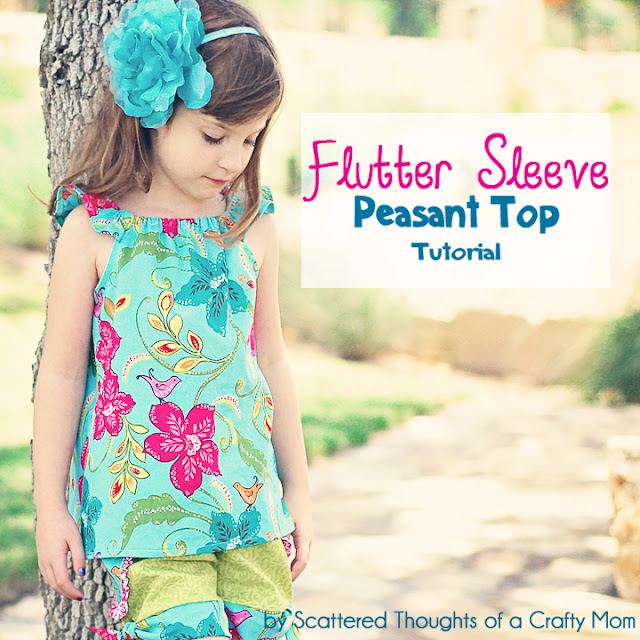 flutter sleeve peasant top pattern