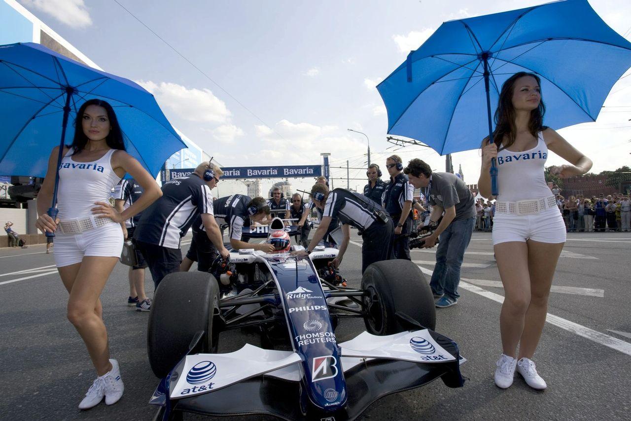 grid girls bavaria moscow city racing event autooonline magazine