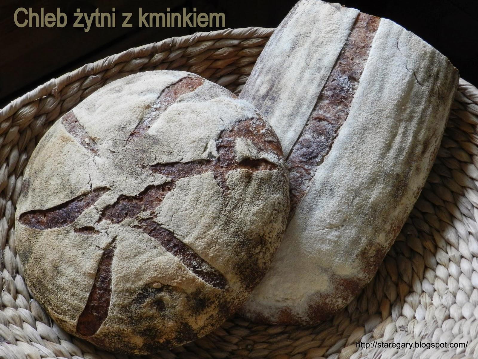 Chleb żytni z kminkiem  (40%)  Hamelman'a