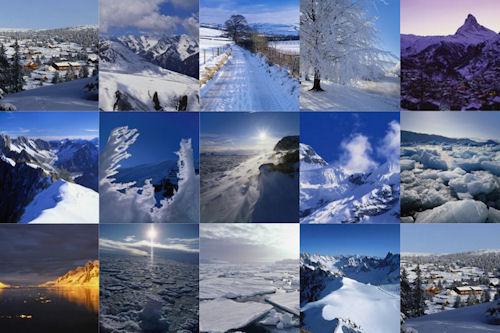 Paisajes nevados o snowscapes (nieve en las montañas)