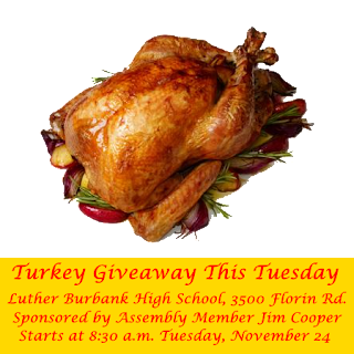 Jim Cooper turkey giveaway