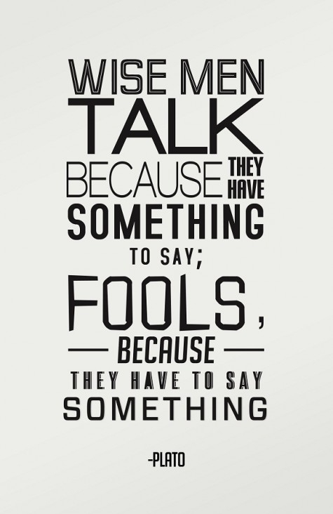Wise Men vs Fools : Plato Quote's