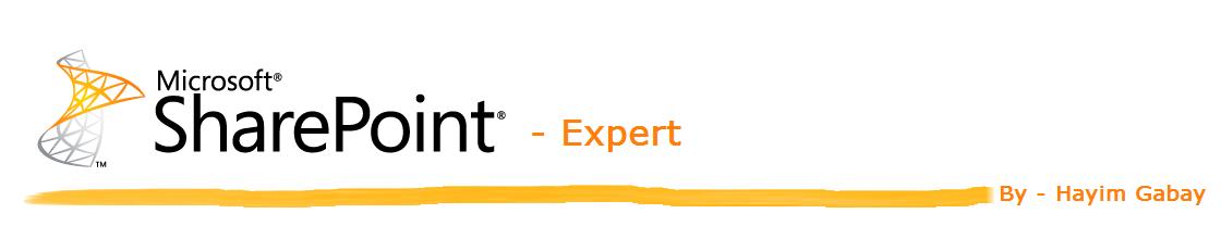 SharePoint - Expert חיים גבאי