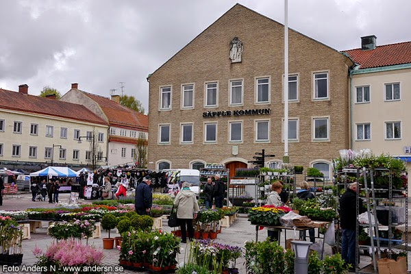 torget, torg, Säffle, kommunhus, kommunhuset, torghandel, blomsterhandlare