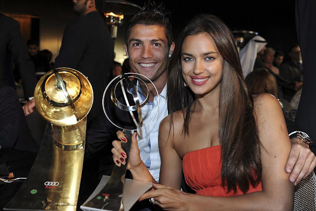 Irina Shayk & Christiano Ronaldo at the Globe Soccer Awards 2011 in Dubai