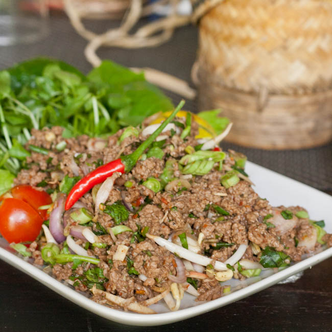 Minced Meat and Herb Salad - The Witch in the Kitchen
