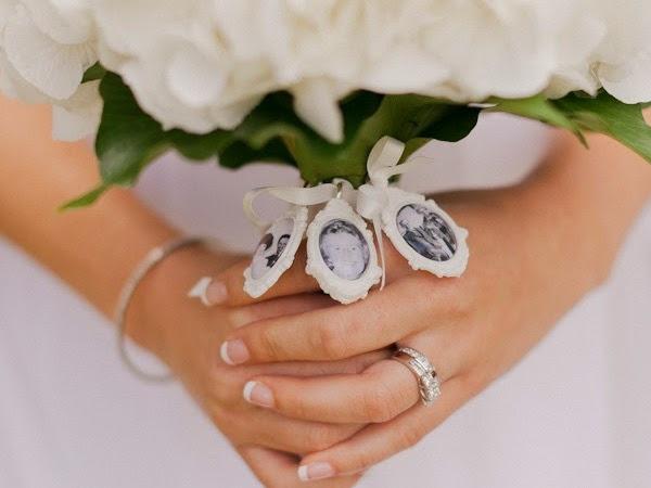 Ramos de novia originales con fotografías