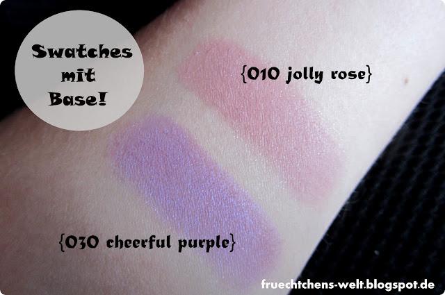 Review p2 I Feel Pretty Eyesahdow JOLLY ROSE & CHEERFUL PURPLE
