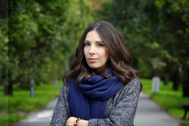 Zara navy scarf