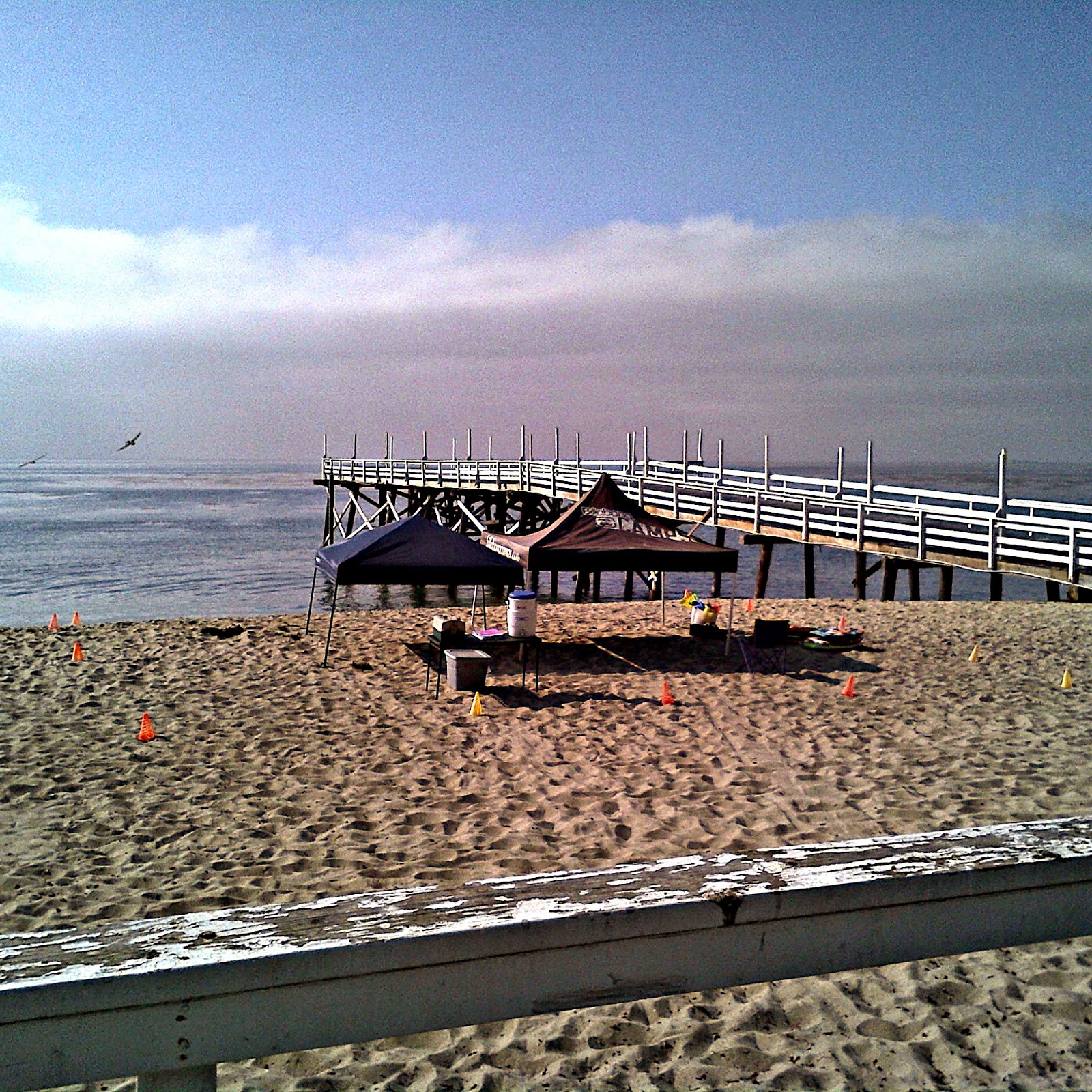 View of Aloha Beach Camp's Paradise Cove, Malibu, summer camp location, right on the beach.