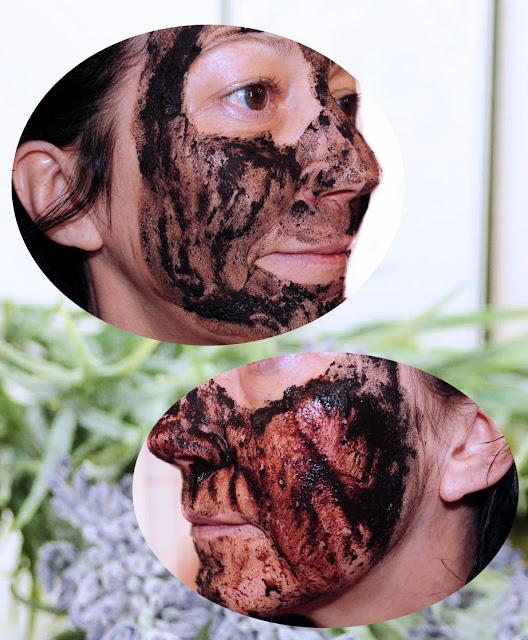 Abspülen der Torfmaske