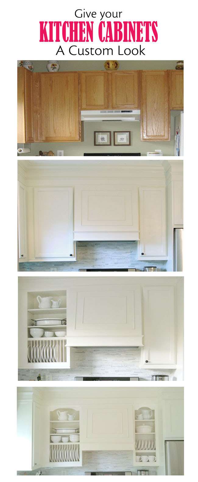 how to transform kitchen cabinets with paint and moldings