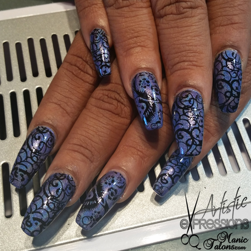 KBShimmer What Are You Wading For? with Pueen Encore Stamping