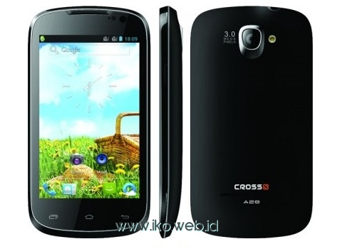 Cross Andromeda A28, HP Android Layar 4 Inci 3G Dual-core 1GHz