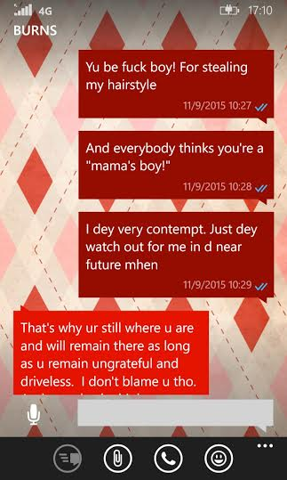 Burna Boy and Dr Spicey texts