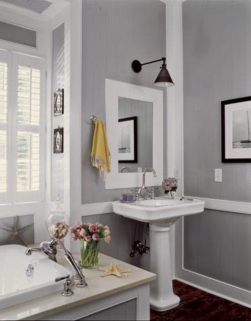 The yellow cape cod how to choose the perfect gray paint - Best light gray paint color for bathroom ...