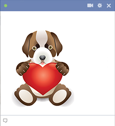 Puppy and Heart icon
