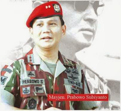 Foto Mayjen. Prabowo Subianto