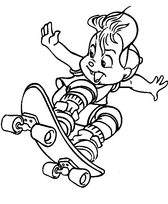 Best Sports Coloring Pages: Skating And Skateboard Coloring Pages