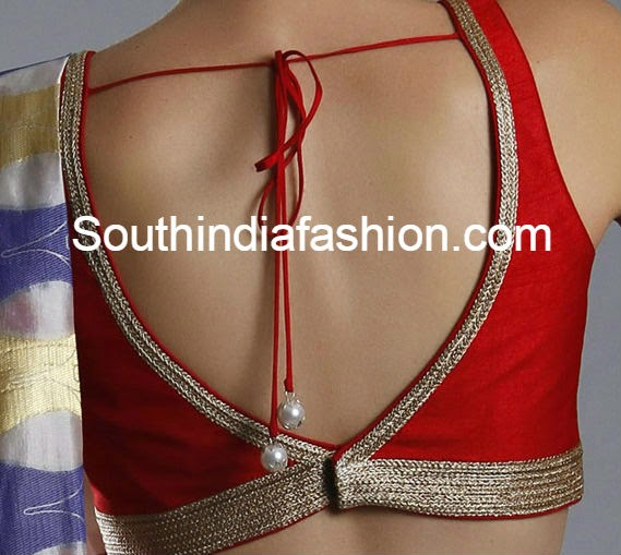 v back neck blouse